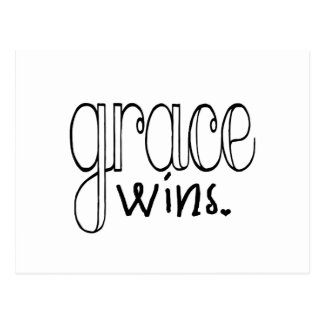 Grace Wins (Black) Postcard