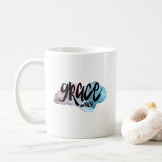 Grace Wins Coffee Mug- Inspirational Coffee Cup