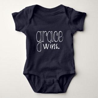Grace Wins (White) Baby Bodysuit