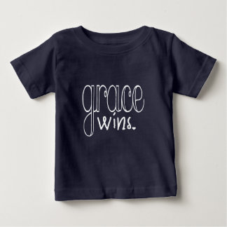 Grace Wins (White) Baby T-Shirt