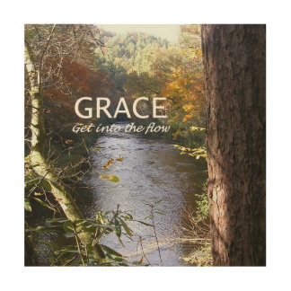 GRACE Wood Wall Art 12x12 Wood Print