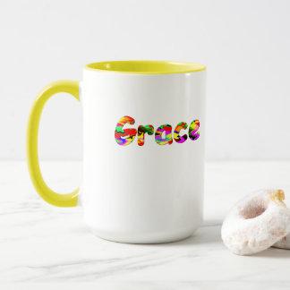 Grace Yellow White Mug
