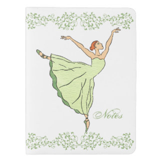 Graceful Ballerina Dances Extra Large Moleskine Notebook