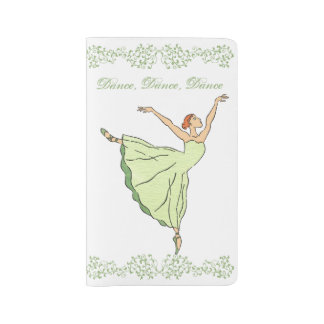 Graceful Ballerina Dances Large Moleskine Notebook