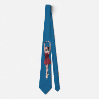 Graceful Ballerina On Pointe Customizable Tie