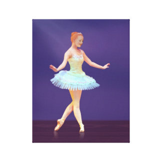 Graceful Ballerina with Red Hair Canvas Print