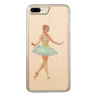 Graceful Ballerina with Red Hair Carved iPhone 8 Plus/7 Plus Case