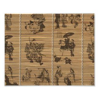 graceful Bamboo Look Custom pattern geisha samurai Photo Print