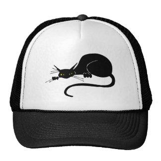 Graceful Black Cat Cap