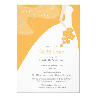 Graceful Bride Bridal Shower Invitation Beeswax