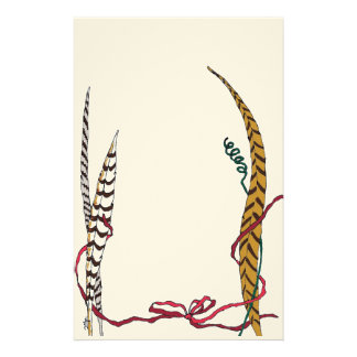 Graceful Feathers in Shades of Autumn II Stationery