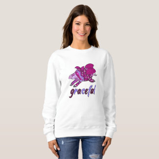 Graceful flying pig sweatshirt