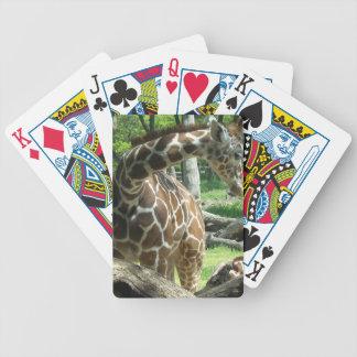 Graceful Giraffe Bicycle Playing Cards