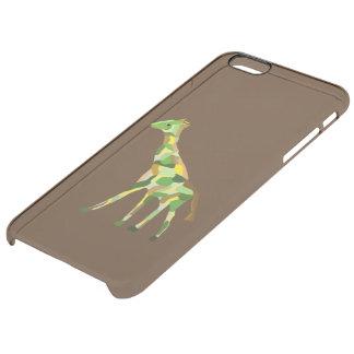 Graceful Giraffe Clear iPhone 6 Plus Case