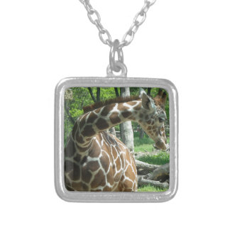 Graceful Giraffe Silver Plated Necklace