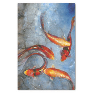 Graceful Koi I Tissue Paper