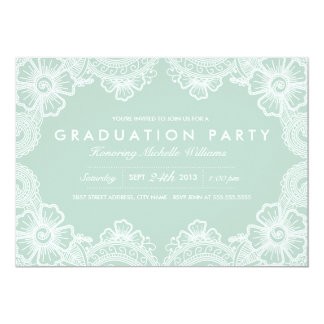Graceful Lace Grad Party Invitation