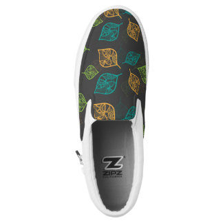 Graceful Leaves Pattern Printed Shoes