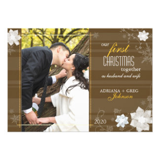 Graceful Our First Christmas Together Photo Cards