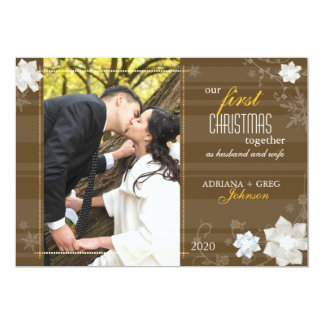 """Graceful Our First Christmas Together Photo Cards 5"""" X 7"""" Invitation Card"""