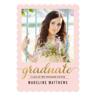 Graceful Script EDITABLE COLOR Graduation Card