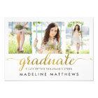 Graceful Script Editable Colour Graduation Invite