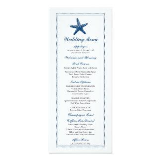 Graceful Starfish | Wedding Menu Card