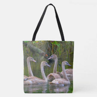 Graceful Young Swans Tote Bag