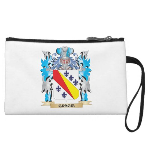 Gracia Coat of Arms - Family Crest Wristlet Purses