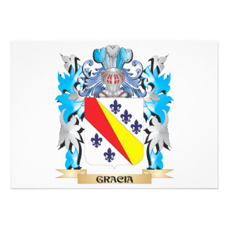 Gracia Coat of Arms - Family Crest Cards