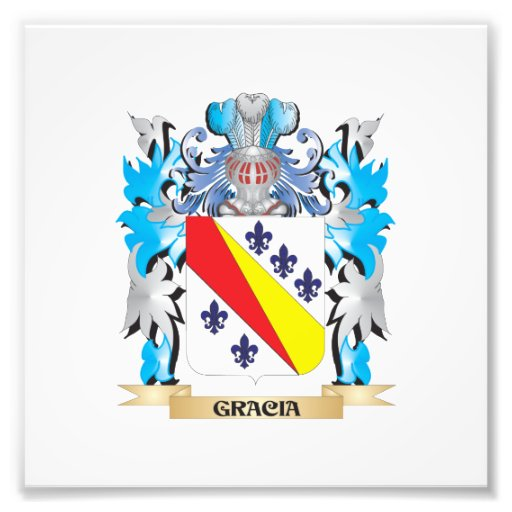 Gracia Coat of Arms - Family Crest Photographic Print