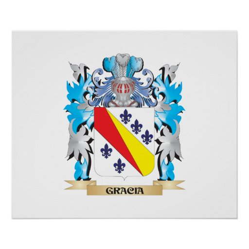 Gracia Coat of Arms - Family Crest Poster