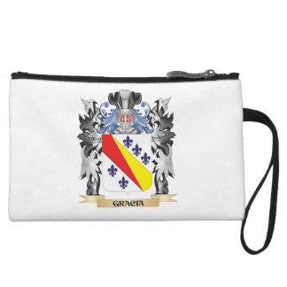 Gracia Coat of Arms - Family Crest Wristlet Clutches
