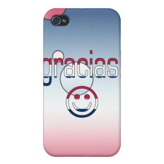 Gracias! America Flag Colors Pop Art iPhone 4 Cases