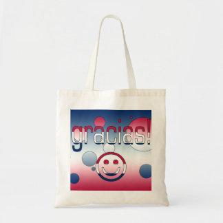 Gracias America Flag Colors Pop Art Tote Bags