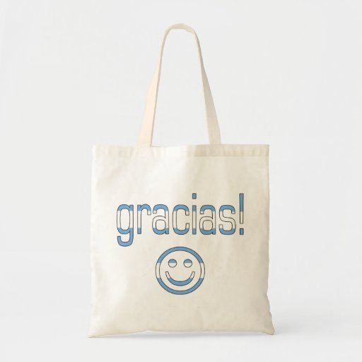 Gracias! Argentina Flag Colors Tote Bag