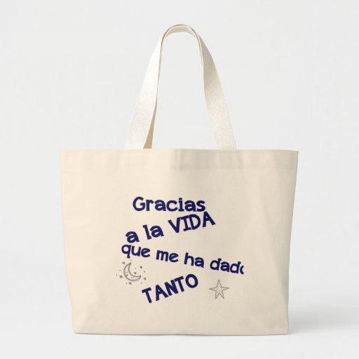 gracias tote bag