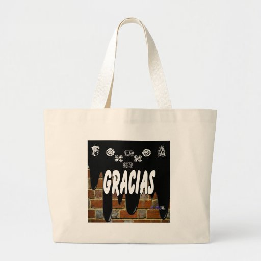 GRACIAS BRICK BACKGROUND PRODUCTS TOTE BAGS
