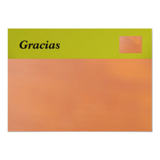 Gracias Card 13 Cm X 18 Cm Invitation Card