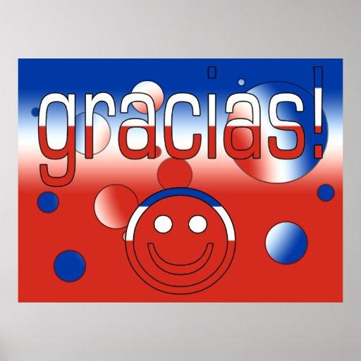 Gracias! Chile Flag Colors Pop Art Posters