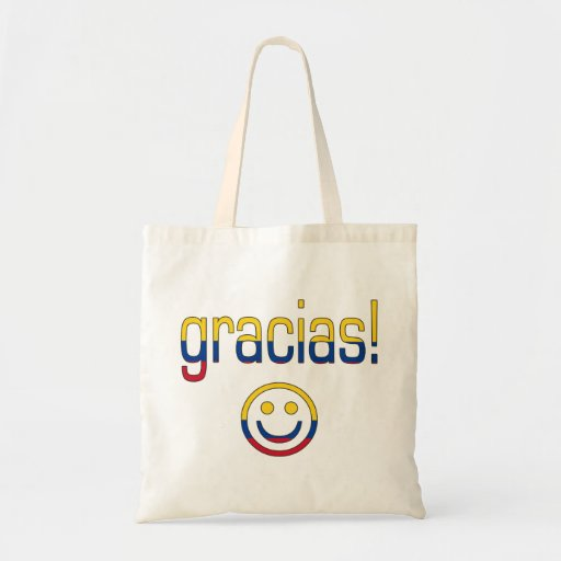 Gracias! Colombia Flag Colors Canvas Bag