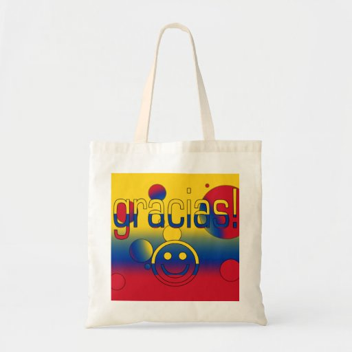 Gracias! Colombia Flag Colors Pop Art Bags