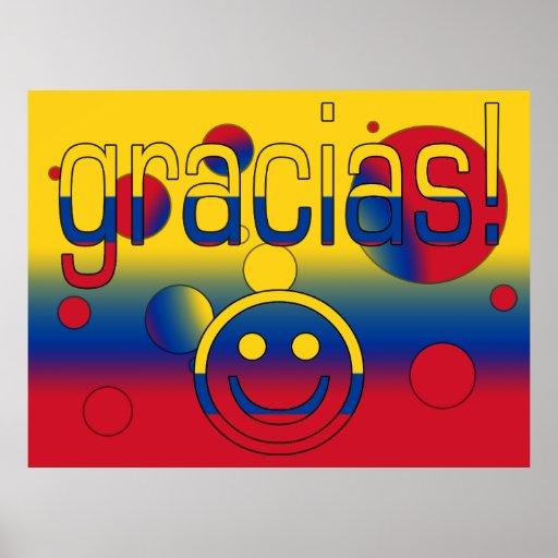Gracias! Colombia Flag Colors Pop Art Posters