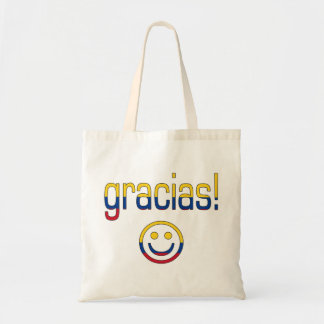Gracias! Colombia Flag Colours Budget Tote Bag