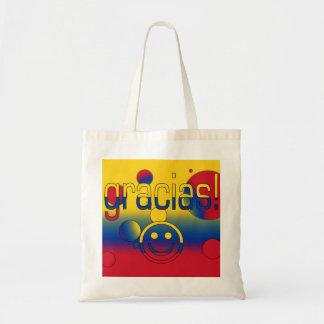 Gracias! Colombia Flag Colours Pop Art Budget Tote Bag