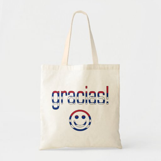 Gracias! Cuba Flag Colors Canvas Bags