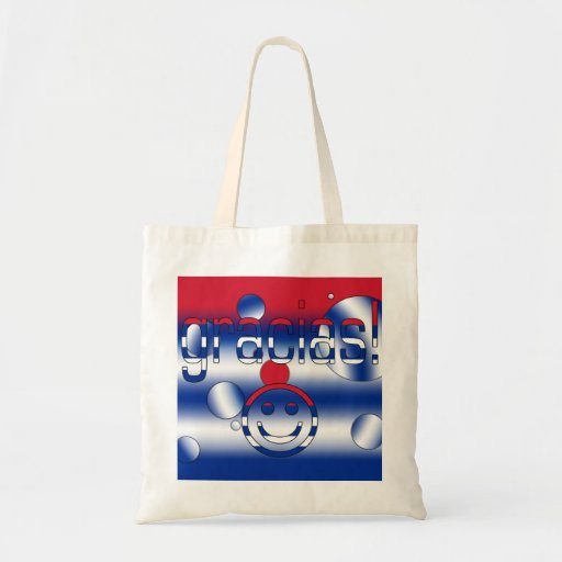Gracias! Cuba Flag Colors Pop Art Tote Bags