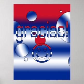 Gracias Cuba Flag Colors Pop Art Posters