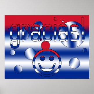 Gracias Cuba Flag Colors Pop Art Poster