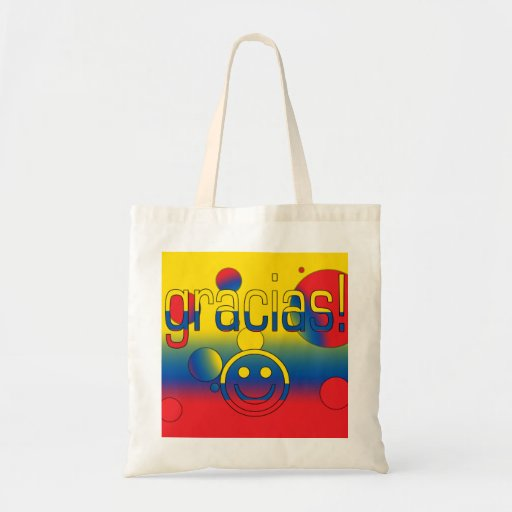 Gracias! Ecuador Flag Colors Pop Art Tote Bag
